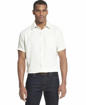 Van Heusen Men's Tall Air Tropical Short Sleeve Button Down Shirt