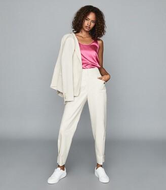 Reiss Remey - Silk Front Vest in Pink