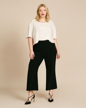 Christian Siriano Textured Crepe Trousers