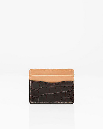 Le Château Croco-Embossed Leather Card Holder