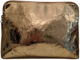 3.1 Phillip Lim Gold Patent leather Clutch bags
