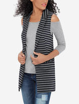 The Limited Striped Notch Lapel Sleeveless Jacket