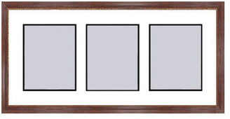 Frames By Mail Mahogany Collage Picture Frame - 3 openings for 5X7 photos