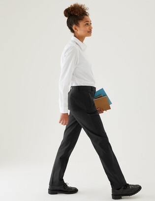 Marks and Spencer Girls' Slim Leg Slim Fit School Trousers
