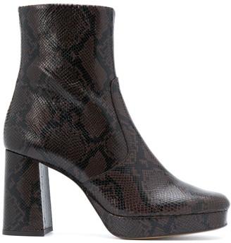 Sandro Carmen python-print boots