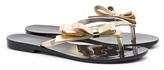 Melissa Harmonic Chrome Black Gold Flip Flops