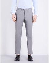 Armani Collezioni Regular-fit Micro Checked Wool Trousers