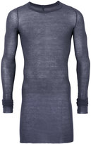 Rick Owens long length T-shirt - men - Silk/Viscose - S