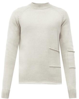 Jacquemus Patch-pocket Merino-wool Sweater - Beige