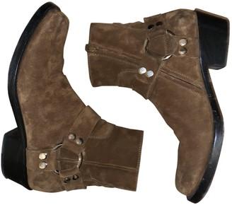 Balenciaga Brown Suede Boots