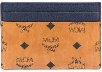 MCM Colour Block Logo Print Wallet