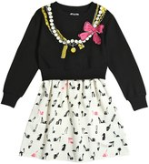 Moschino Necklace Printed Milano Jersey Dress