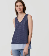 LOFT Diamond Lace Layered Shell