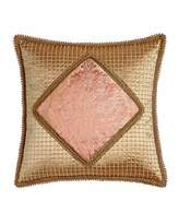 "Sweet Dreams Rue de L'amour Beaded Pillow with Damask Center, 20""Sq."