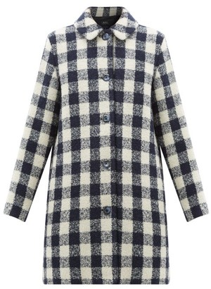 A.P.C. Checked Boucle Coat - Womens - Black White