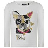 Ikks IKKSGirls Ivory Dog Print Top