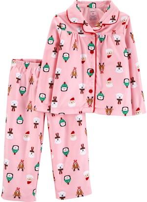 Carter's Girls' Toddler 2-Piece Coat Pajama Set