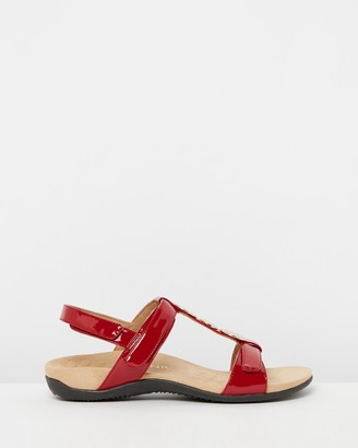 Vionic Women's Red Flat Sandals - Farra Backstrap Sandals - Size One Size, 5 at The Iconic