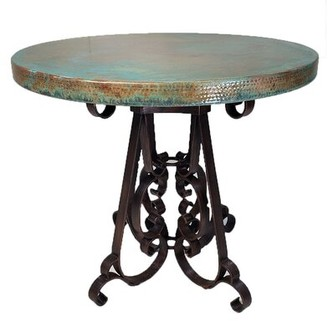 Fleur De Lis Living Beloit Metal Bar Table