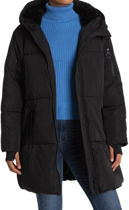 DKNY Puffer Coat with Oversized Hood