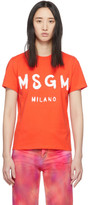 MSGM Orange Milano T-Shirt