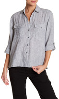 James Perse Striped Button-Up Linen Shirt