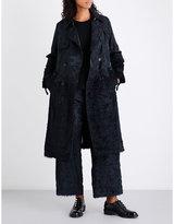 Noir Kei Ninomiya Floral-jacquard trench coat