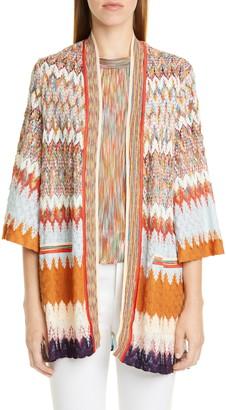 Missoni Knit Open Front Cardigan