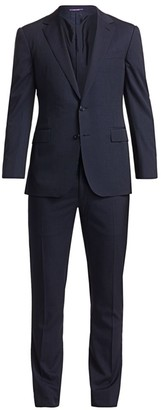 Ralph Lauren Purple Label Gregory Two-Button Microstripe Wool Suit
