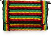 Rachel Comey Lea striped-crochet clutch