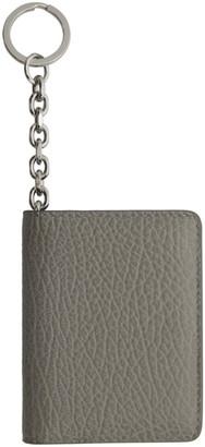 Maison Margiela Grey Bifold Keychain Card Holder