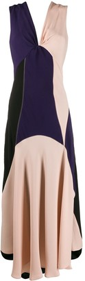 Colour Block Intarsia Dress