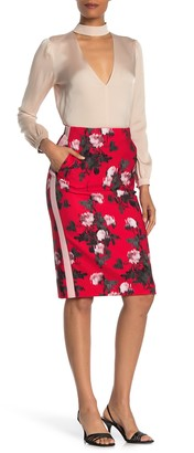HUGO Rianas Floral Stripe Pencil Skirt