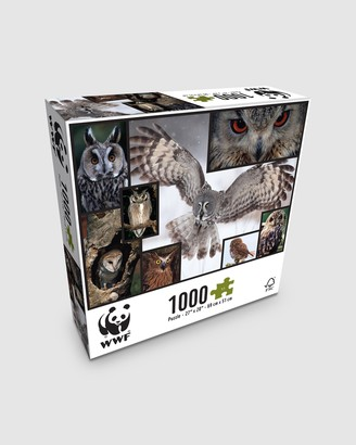 WWF - Grey Puzzles - 1000 Piece Puzzle - Owls - Size One Size at The Iconic