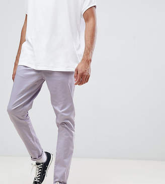 Asos Design DESIGN Tall tapered chinos in pastel purple