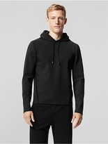 Calvin Klein Collection Performance Jersey Hoodie With Luxe Cotton Binding