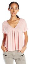 Velvet by Graham & Spencer Women's Textured Knit Babydoll T-Shirt
