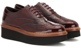 Tod's Patent Leather Platform Oxford Shoes