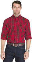 Izod Holiday Tartan Plaid Long Sleeve Shirt