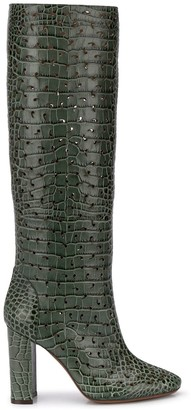 L'Autre Chose 100mm Perforated Embossed Croc-Effect Boots