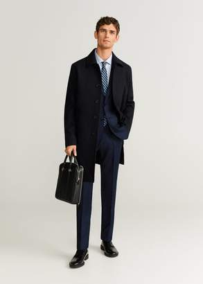 MANGO Slim fit virgin wool suit blazer