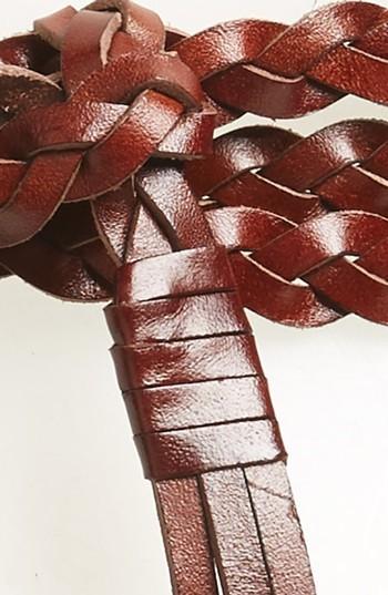 Rebecca Minkoff Women's Braided Leather Wrap Belt