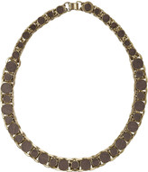 Stella McCartney Wood and gold-tone brass chain necklace