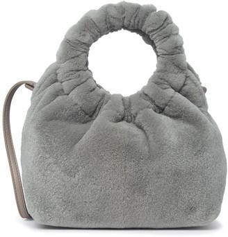 The Row Genuine Mink Fur O-Ring Handle Bag