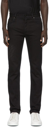 Fendi Black Faded Forever Slim Jeans