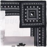 Palm Angels logo print scarf