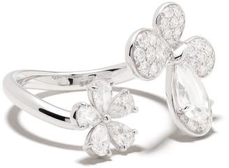 David Morris 18kt white gold Pixie diamond ring