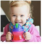 Nuby 2 Handle Straw Cup - Girl - 8 oz