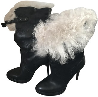 Burberry Black Mongolian Lamb Boots