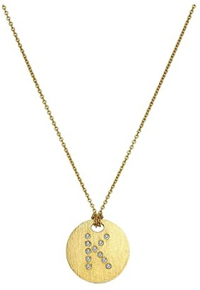 Roberto Coin Tiny Treasures 18K Yellow Gold Initial K Pendant Necklace (Yellow Gold) Necklace